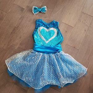 Weissman blue heart costume
